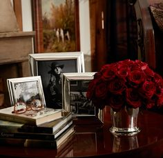 Bedside table beauty with Ralph Lauren Home's silver-plated frames