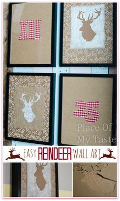 Easy Reindeer Wall Art