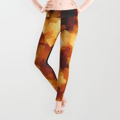 Cubist Fire Leggings by Mailboxdisco