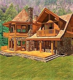 Want to experience the goodness of living in a country-style house and away from the city, and if you love hands-on, log cabin kits is the solution. Cabin House Plans, Rustic House Plans, Log Cabin Kits, Log Cabin Living, Log Cabin Homes, Log Cabins, Style At Home, Cabin Design, House Design