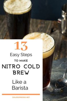 Nitro Cold Brew at Home – How to Make it like a Barista - SoloEspresso - Coffee Stations Cold Brew Coffee Recipe, Making Cold Brew Coffee, Tea Recipes, Coffee Recipes, How To Make Frappuccino, How To Make Mocha, Ninja Coffee Maker, Coffee Brewing Methods, Espresso At Home