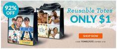 Custom Reusable Shopping Bag Only $1!