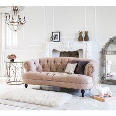 Chablis & Roses Pink Velvet Sofa | Luxury Sofa