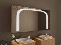 Trend Ungew hnlicher Design Spiegelschrank f rs Bad mit bogenf rmiger Beleuchtung BOSTON von Spiegel