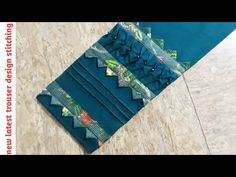 Kurti Sleeves Design, Sleeves Designs For Dresses, Fancy Blouse Designs, Salwar Kameez Neck Designs, Salwar Designs, Trousers For Girls, Salwar Pants, Capri Trousers, Baby Dress Design