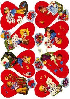 Vintage Valentine scraps from Germany Kinder Valentines, Vintage Valentine Cards, Valentine Day Love, Valentines For Kids, Vintage Greeting Cards, Valentine Day Cards, Tiny Dolls, Vintage Ornaments, Vintage Paper