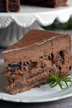 Čokoladni cheescake s suhimi slivami Fudge Recipes, Cake Recipes, Dessert Recipes, Chocolate Sweets, Chocolate Cheesecake, Original Cake Recipe, Kolaci I Torte, Cute Desserts, Sweet Cakes
