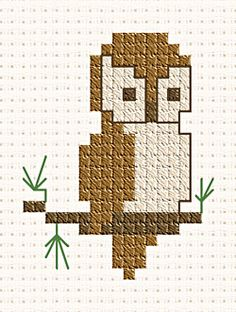 Free tutorial and Owl pattern (free cross stitch pattern from Gloria and Pat Designs)