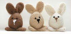 Handmade Crochet Easter Rabbit Toys on Etsy. Cuteness!