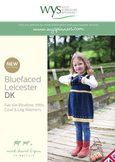 Fair Isle Border Pinafore, Cowl & Mitts in West Yorkshire Spinners Bluefaced Leicester DK