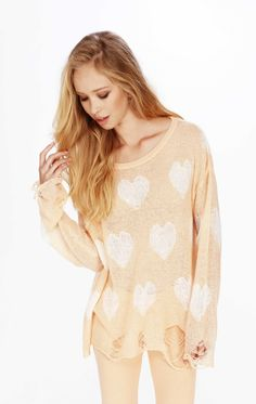 Wildfox Sweater - All Over Love Lenon Sweater