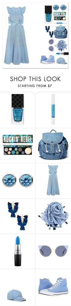 """""""Blue accessories💙"""" by uniandcorn1 ❤ liked on Polyvore featuring Gucci, Osmotics Cosmeceuticals, MAC Cosmetics, Dance & Marvel, Thomas Sabo, self-portrait, Ettika, Fendi and Converse"""