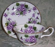 Tea Cup & Saucer violets - reminds me of my Gramma