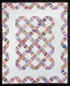 Indian Hatchet String Quilt  love this design. great way to use up fabric stash.