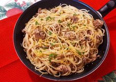 Citromos tonhalas spaghetti recept foto Ethnic Recipes, Food, Meals