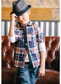 Vierra Rose Lenox Pocket Shirt in Plaid