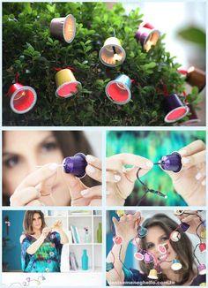 Càpsules - Link original aquí: http://denisemeneghelloblog.blogspot.com.es/2012/11/sininhos-iluminados-com-nespresso.html