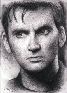 Doctor Who David Tennant Original Hand Drawn ACEO Sketch Card Mint by A.Fry @Olivia S