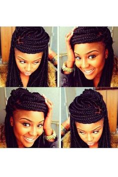 Marvelous 12 Steps Box Braids Hairstyle Tutorial Swimming Style And Updo Hairstyles For Men Maxibearus