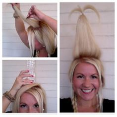 A Cindy Lou Who Hair Tutorial! – Dollface by Jules Beauty Production & Education Merry Halloween! A Cindy Lou Who Hair Tutorial! – Dollface by Jules Beauty Production & Education Whoville Costumes, Whoville Hair, Christmas Costumes, Whoville Christmas, Christmas Ideas, Halloween Costumes, Fairy Costumes, Christmas Parties, Halloween 2017
