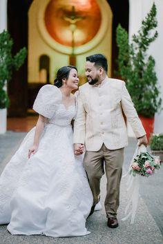An Elegant Filipiniana Wedding with a Deep Burgundy Theme Barong Wedding, Wedding Attire, Wedding Gowns, Barong Tagalog Wedding, Wedding Blog, Wedding Decor, Wedding Ideas, Modern Filipiniana Gown, Filipiniana Wedding Theme