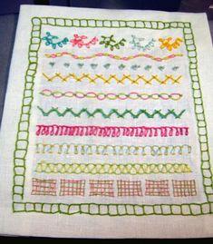 Embroidery stitches tutorial - gods eye stitch