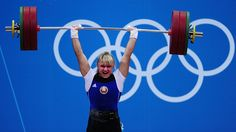 Maryna Shkermankova - Belarus Women's Weightlifting - 2012 Olympics - via Jezebel