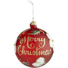 Pier 1 Imports European Merry Christmas Ornament ($7.38) ❤ liked on Polyvore featuring home, home decor, holiday decorations, christmas, christmas ornaments, filler, pier 1 imports, hand blown christmas ornaments, glass christmas ornaments and glass home decor