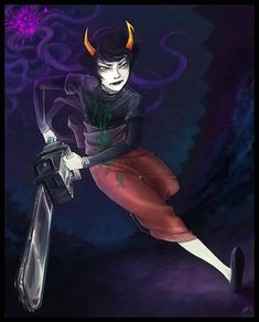 @Emily Schoenfeld R. Miller THIS S A VIRGO CHICK NAMED KANAYA YAY! SHE ROCKS IT SEEMS SHE HAS A CHAINSAW