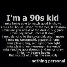 "Those were the good old days.  Nowadays if u ask a kid ""NSYNC or Backstreet?"", you get the deer in the headlights look.  :("