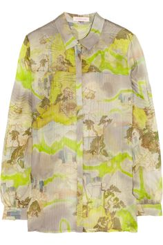 MATTHEW WILLIAMSON  Kyoto printed silk-chiffon blouse