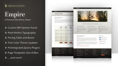 Empire WordPress Theme: Flexible and Sophisticated