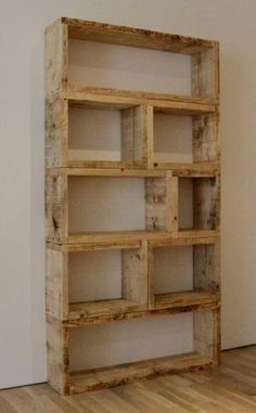 Bookshelf with pallets by Pulguis016