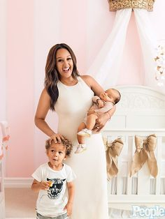 Tamera Mowry-Housley, daughter Ariah Talea, and son Aden. <3 ;)