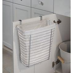 Papperskorg över skåpdörr - Polerat stål - Bosign - 247 Kr