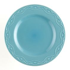 Amazon.com: Paula Deen Signature Dinnerware Whitaker 4-Piece Dinner Plate Set, Aqua: Home & Kitchen