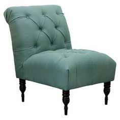 Vaughn Tufted Slipper Chair - Teal