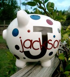 Personalized Piggy Bank by dancenat on Etsy. Xmas gifts