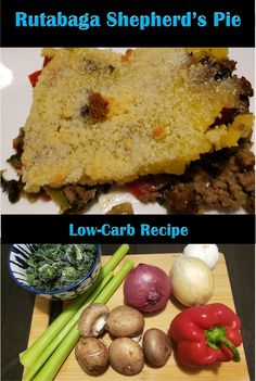Rutabaga Shepherd's Pie - The perfect low carb substitute for potatoes! Carb Substitutes, Fall Dinner, Tasty Dishes, Health And Nutrition, Low Carb Recipes, Instant Pot, Food Porn, Stuffed Peppers, Cooking