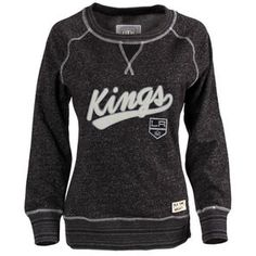 Old Time Hockey Los Angeles Kings Women's Black Seneca Snow Fleece Crew Sweatshirt