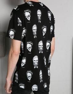 Camiseta estampado y texto - Hombre - Bershka España