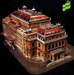 Hungarian State Opera House Free Building Paper Model Download - http://www.papercraftsquare.com/hungarian-state-opera-house-free-building-paper-model-download.html#BuildingPaperModel, #HungarianStateOperaHouse