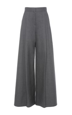 Minimal + Classic Style // Wide Leg Pants With A Crease Line by Vika Gazinskaya for Preorder on Moda Operandi