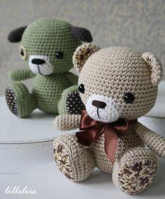 PATTERN - Amigurumi cuties - bunny, puppy and teddy (crochet, amigurumi)
