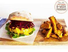 Beetroot slaw burger