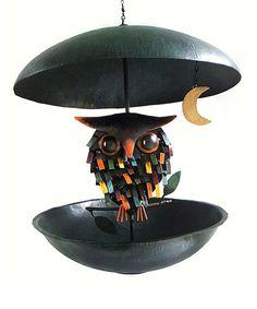 This Spiky Owl & Moon Feeder by Songbird Essentials is perfect! #zulilyfinds