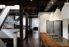 Originally built in 1850 as a carriage house in Surry Hills, Sydney the building was converted in the early 1900's to a metal castings factory. Respecting the history of the building we repaired original walls, beams, columns and timberwork generally and expressed new work in contemporary materials without touching the fabric of the original envelope. …