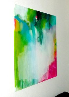 Original large XXL abstract painting, abstract art, modern painting, turquoise…