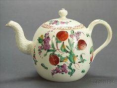 Wedgwood Queens Ware Strawberry Decorated Teapot