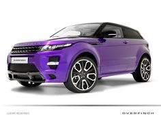 The Range Rover Evoque has strutted its way into the top spot of the 2012 Women's World Car of the Year awards, proving its wares against a list of female-focused criteria. The Range Rover Evoque SUV . The Purple, All Things Purple, Shades Of Purple, Purple Rain, Purple Stuff, Range Rover Evoque 2012, Range Rover Sport, My Dream Car, Dream Cars